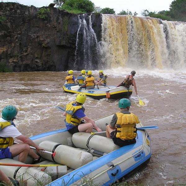 Leave Nairobi for White-water rafting Adventure Safari at Sagana Rapids