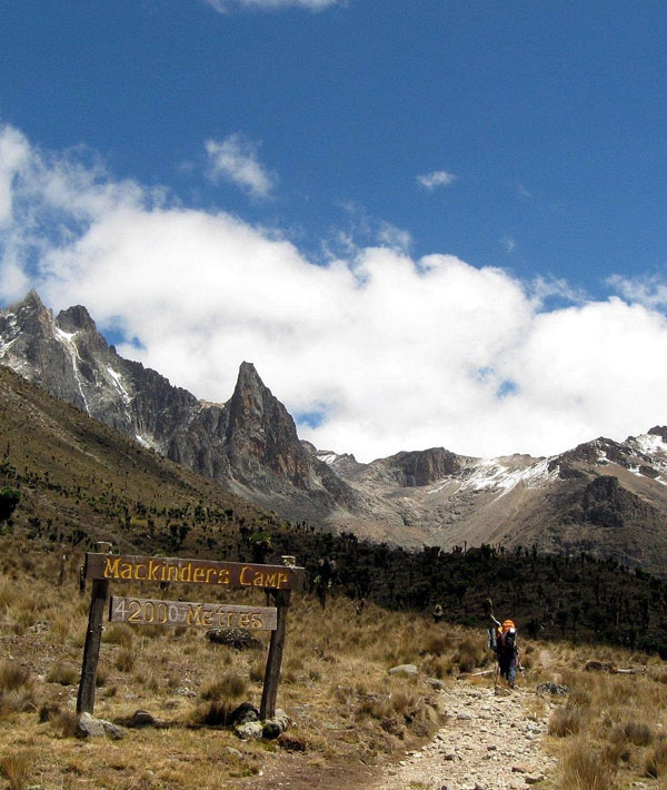Met Station – Mackinder's Camp (1150m ascent)