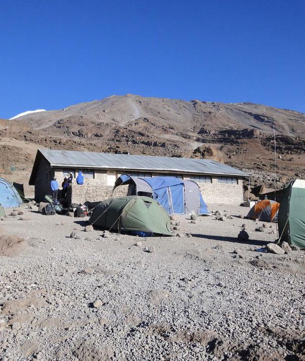 Summit Attempt Kibo hut (4700m) | Uhuru Peak (5895m) | Horombo hut (3720m)