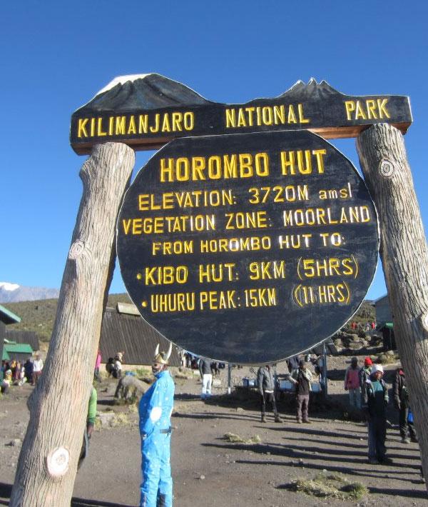 Kibo hut -Summit (19,340ft/5895m) – Horombo hut