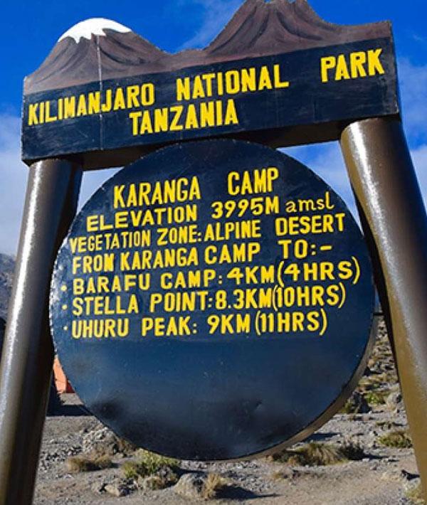 Karanga Camp to Barafu Camp